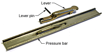 Lever and pressure bar parts