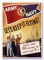 "Army-Navy ""E"" poster"