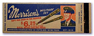 Patriot advertising matchbook, c. 1943