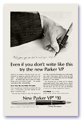 Parker VP Advertisement, October 1963