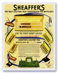 Sheaffer advertisement, December 12, 1938