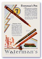 Waterman advertisement, 1929